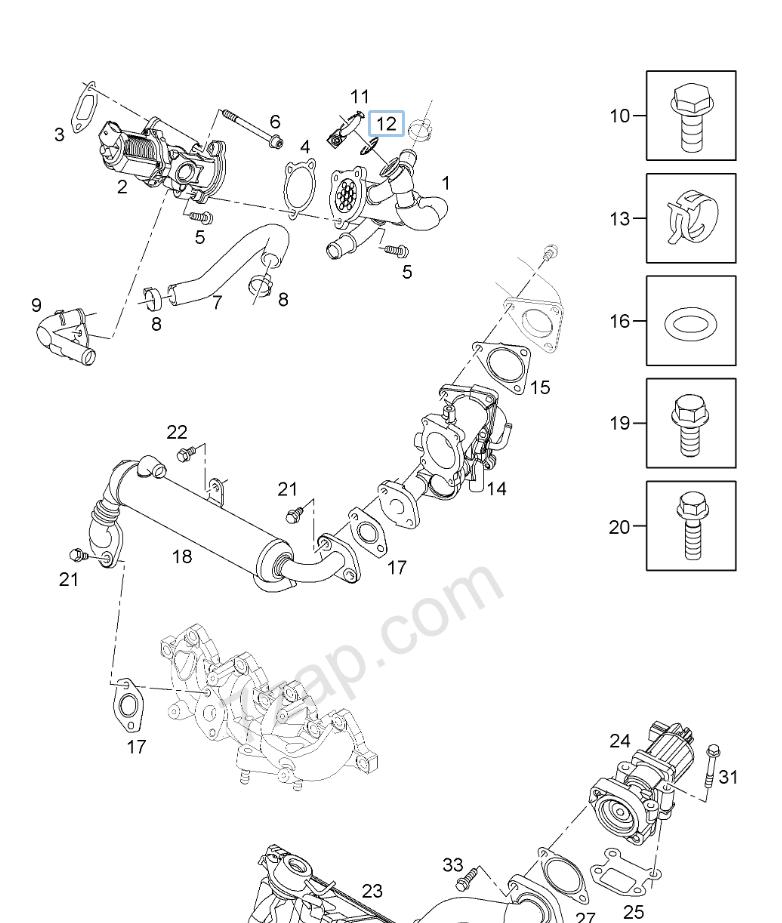 Victor Reinz gas di scarico Guarnizione curva curva di scarico Opel Suzuki 229623