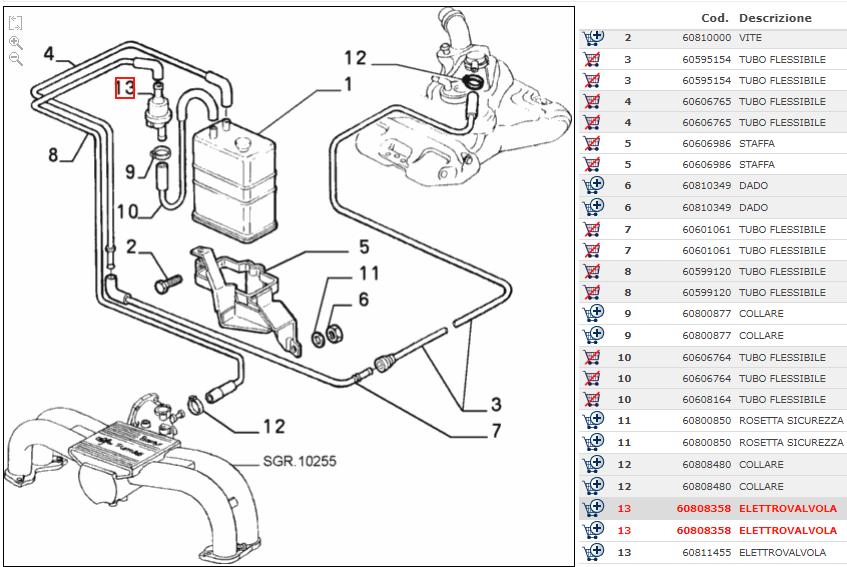 Des Ventils Verschnaufpause Tank Benzin Alfa 145 BMW Fiat