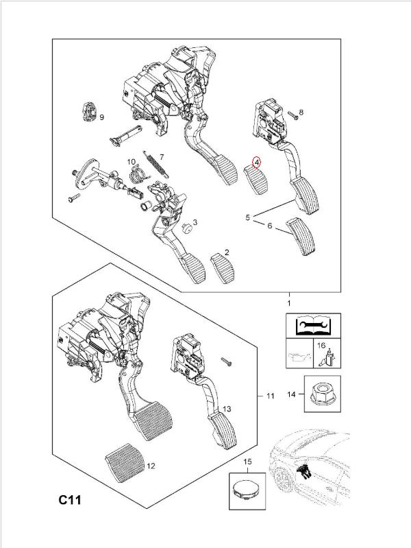 Bremsbacken für Trommelbremse EBC mit Federn Typ K709 für Kawasaki Z 650 F